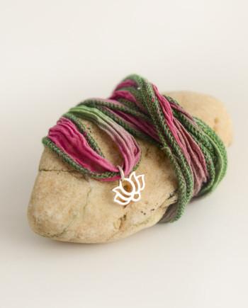 Pink Lotus bracelet by YogaDham.com