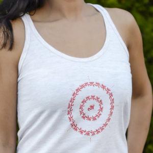Circle of OM White RacerBack by YogaDham.com
