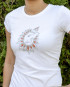 Ganesha white Tee for women by YogaDham.com