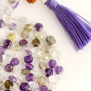 Multi-Gemstone Japa Mala Beads by YogaDham