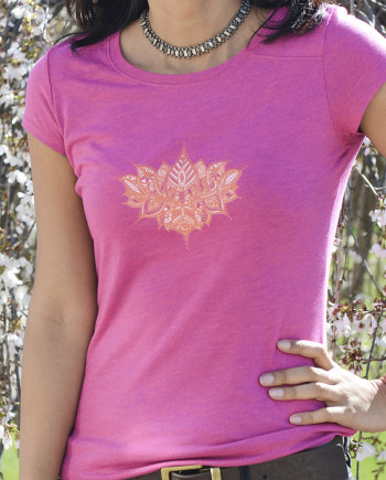 Padma Pink Lotus Tee for Women
