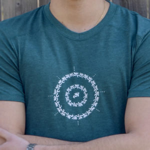Circle of Om Tee for Men by YogaDham.com